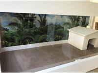 "Tortoise table (White Deluxe 4ft x 20"" x 17"")"