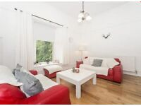 """3 seater and 2 seater red leather sofa suite by """"SOFITALIA"""" with footstool / chaise / corner sofa"""