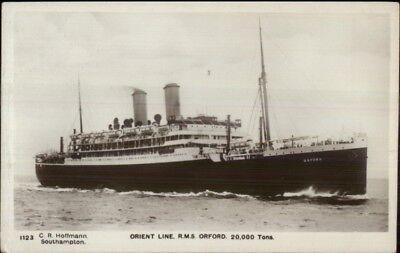 Orient Line Steamship Ss Oxford C1915 Real Photo Postcard