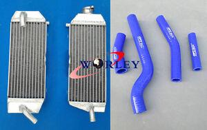 For Yamaha YZ426F YZF426 YZ450F YZF450 2001-2005 Aluminum Radiator & Hose BLUE