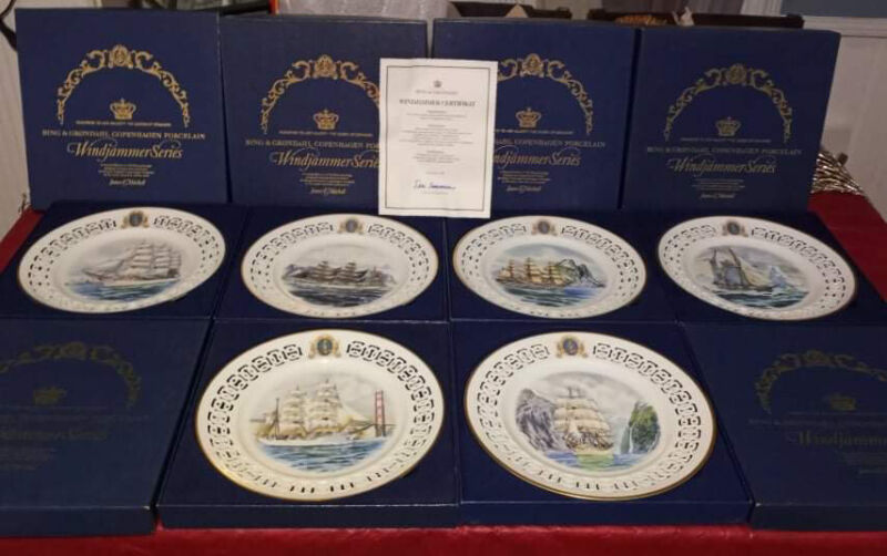 Bing & Grondahl The Windjammer Series Complete Set Collectible 6 Plates w/ Boxes