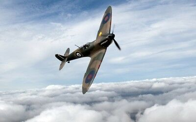 """SPITFIRE fighter planes canvas 20""""x30"""""""