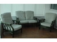 Conservatory - sun room suite, including side tables and tall unit - perfect condition.