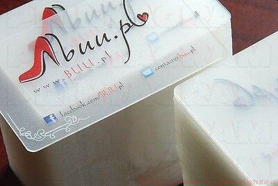 240 Transparent plastic business cards