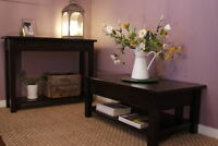 Rustic Solid Wood Coffee Table $495 Console $495 & more! LIKEN