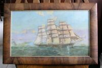Framed Painting of Clipper Ship (print)