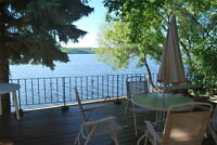 Lakefront cabin for rent on Pasqua Lake in the Qu'Appelle Valley