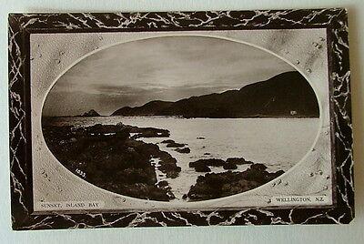 Wellington New Zealand Postcard Sunset Island Bay