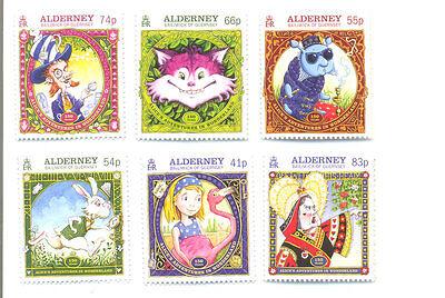 Alderney-Alice in Wonderland set of 6 mnh (Feb 2015)