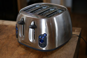 Hamilton Beach Brushed Chrome LCD 4 Slice Toaster
