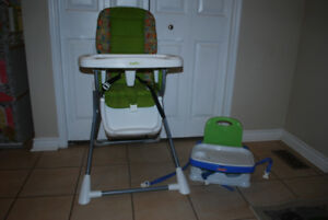 Evenflo Compact Fold High Chair and Fisher Price Booster Seat