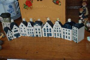 BLUE DELFT BOLS AIRLINE GIN BOTTLES MADE IN HOLLAND FOR KLM RARE