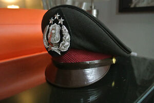 Indonesian police hat, Bali, authentic