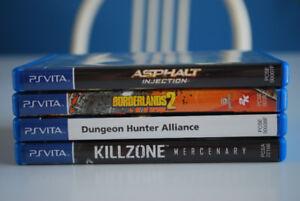 4 Jeux PS Vita à vendre