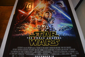 The Force Awakens original 27x40 Double Sided movie poster