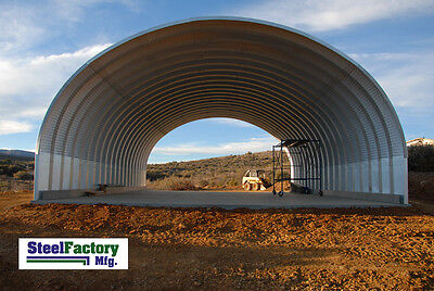 Steel Factory Mfg S40x40x16 Prefab Metal Arch Storage Building Garage Barn Kit