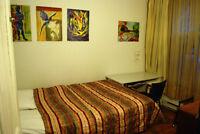Chambre en colocation à partir de/from: 335$/m (roommate room)