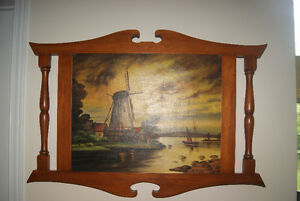 BEAUTIFUL 1939 OIL ON CANVAS PAINTING - WINDMILL BY M.P. DUPONT West Island Greater Montréal image 4
