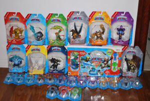 Lot of 10 Skylanders Trap Team Masters, 16 Traps and Wii Game
