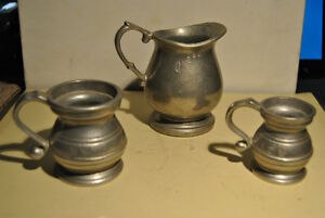 Old Three Cup Pewter USA