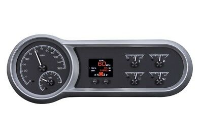 Dakota Digital 53 54 Chevy Car Customizable Analog Gauge System Black HDX-53C-K