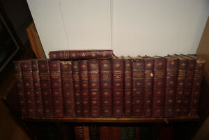 ANTIQUE 1900S LEATHER BOUND CHARLES DICKENS BOOKS 20 VOLUMES SET