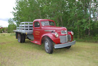 1946 GMC 2 ton with flat deck & hoist