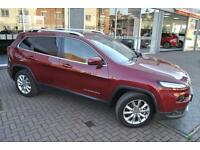 2015 Jeep Cherokee 2L Manual Limited with Black 4X4 Diesel red Manual