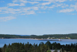 View of Parrsboro Harbour , Wharf and Lighthouse