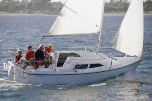 Looking for rent a 22-28 feet sailboat in Beausoleil Island area