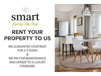Rent your Property to Us! Guaranteed Rent for 3-5 Years. Maintenance and upkeep covered