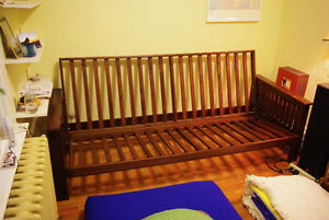 Queen Size Futon Frame (No Mattress)