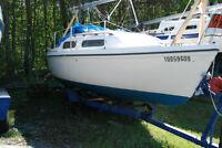 SIRIUS 21 , 1977. Ready for the sailing season...