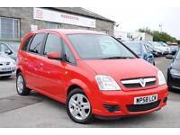 2009 (58) Vauxhall Meriva1.4 TWINPORT BREEZE Petrol Manual Red 5 Door MPV