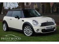 2012 MINI COOPER 1.6 CHILI PACK [122 BHP] 3 DOOR HATCHBACK - WHITE / BLACK ROOF