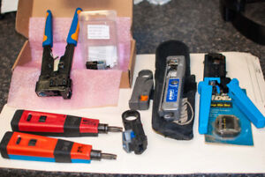 Punch down and crimper tools  for terminating data cables