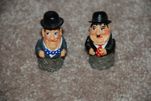 Laurel and Hardy hand painted pewter thimbles