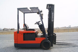 CHARIOT ELEVATEUR,FORKLIFT,ELECT ,SIDE SHIFT, TOYOTA 5FBE18