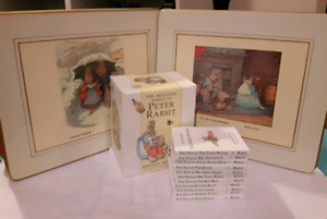 Mini World of Peter Rabbit books and Beatrix Potter placemats