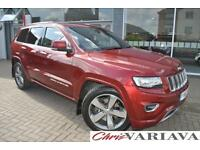 2013 Jeep Grand Cherokee 3.0 CRD Overland 5dr Auto [Start Stop] Diesel red Autom