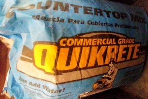 Quikrete counter top mix