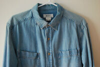 H&M Light Wash Denim Long Sleeved Shirt