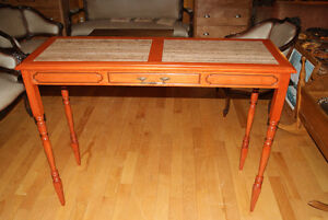 BEAUTIFUL TALL LONG CONSOLE OR ENTRANCE TABLE CHERRY WOOD