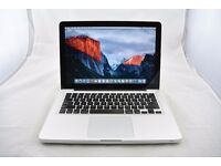 Macbook Aluminum Unibody Apple Mac laptop with 500gb hd and 8gb ram pro memory fully working