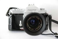 Vintage Nikon Nikkormat FT 35mm Film Chrome body Camera f/2 50mm
