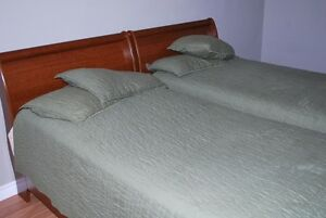 Twin Beds with King Koil Mattress