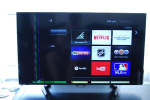 """Selling BROKEN 42"""" / 42 inch Sharp Roku Smart TV - $20"""