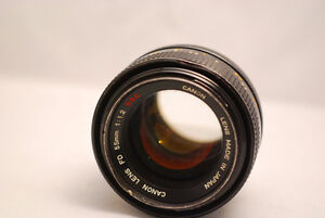 Canon 55 1.2 FD manual lens S.S.C