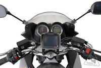 GPS mounting base for motorcycle handlebar brace