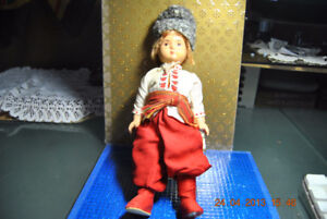 ANTIQUE RUSSIAN SOVIET USSR 1920 DOLL TOY HAND MADE COSSACK BOY